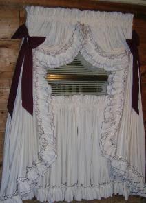 ruffledcurtains Ruffled Curtains, Ruffle Shower Curtains, Swag Curtains, Country Style Curtains, Country Decor, Farmhouse Decor, Priscilla Curtains, Primitive Curtains, Window Cornices