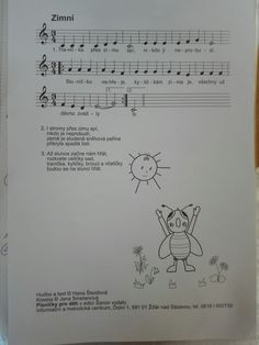 Kids Songs, Piano, Sheet Music, Ms, Education, Winter, Children Songs, Training, Educational Illustrations