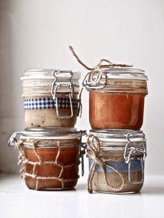 mason jars jam with twine