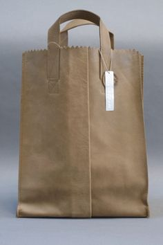 'paper' bag purse - I LOVE this and pinned it twice . . .hint, hint Charles