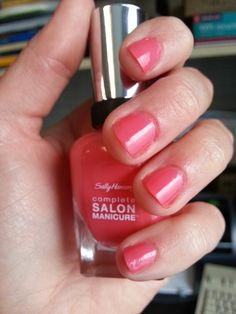 Sally Hansen Complete Salon Manicure in Get Juiced ... Perfect summer color!