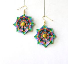 Origami Earrings  Paper Jewelry  Paper by PaperImaginations, $19.25