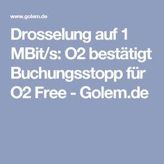 Drosselung auf 1 MBit/s: O2 bestätigt Buchungsstopp für O2 Free - Golem.de