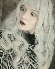 OUT IN THE COLD  #kawaii #hatsumikira #pastel #pastelgoth #alternative #makeup #grey