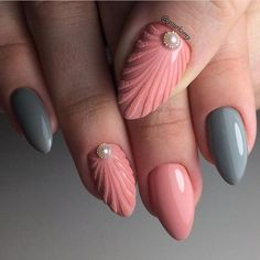 Modern Nail Art Designs that Are Too Cute to Resist Gel Nail Art Designs, Simple Nail Designs, Beautiful Nail Designs, Nail Manicure, Toe Nails, Nail Polish, Sugar Nails, Mermaid Nails, Nail Art Hacks