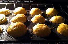 Pão de queijo inspired garlic cheese puffs  #Healthilinguist