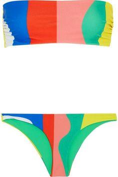 Mara Hoffman - Striped Bandeau Bikini - Pink -