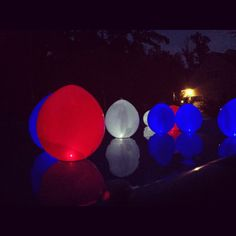 Balloons with glow sticks in them for the 4th of July! So fun to put in the pool :)