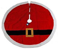 Christmas Tree Skirt Santa Belt 54x54 inches * Want additional info? Click on the image.