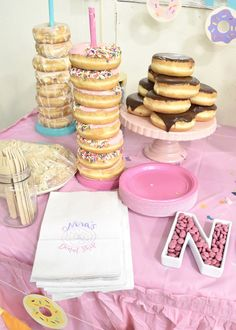 My baby girl's first birthday, a donut birthday party! Sharing all the details of this colorful party, plus a bit of new mom real talk. 12th Birthday Girls, Sleepover Birthday Parties, First Birthday Party Themes, Birthday Party Outfits, Baby Girl First Birthday, Birthday Party Decorations, Birthday Party Invitations, Birthday Ideas, Grandma Birthday
