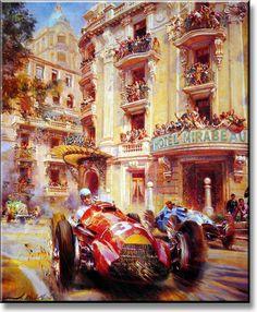 Mirabeau - Alfa  Alfredo de la Maria,1950 Alfa Romeo 158, 1950 Monaco Grand Prix, on May 21st.