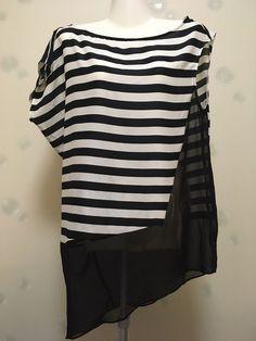 T shirt marinière noir  & blanc asymétrique Zara de marque Zara. Taille 36 / 8 / S à 9.00 € : http://www.vinted.fr/mode-femmes/hauts-and-t-shirts-t-shirts/36516065-t-shirt-mariniere-noir-blanc-asymetrique-zara.