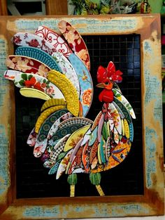 We have come across the most amazing Mosaic Wall Art Ideas and you are going to fall head over heels as we did. Learn how to cut china to create your own. Mosaic Crafts, Mosaic Projects, Art Projects, Mosaic Animals, Mosaic Birds, Mosaic Artwork, Mosaic Wall Art, Mosaic Designs, Mosaic Patterns