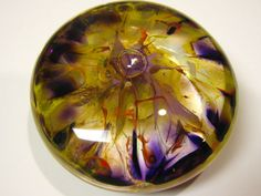 Beautiful glass art made by a friend of mine. Paperweight.