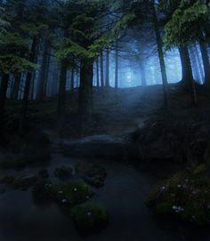 creepypurpleelves:  Night is Falling by Emerald-Depths
