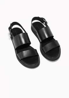 & Other Stories   Raw Edge Leather Sandals