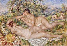 Luzyarte: Las bañistas de Renoir, en su etapa ya enfermo