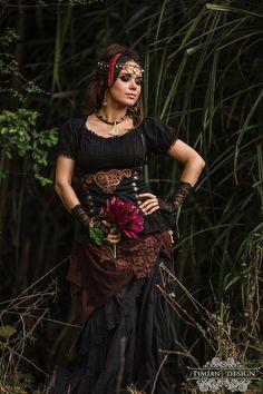 BAVARIAN PEASANT TOP Blouse Steampunk Boho Tribal
