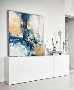 NEW: Original Abstract Painting FREE SHIPPING 48 Inches #abstractart