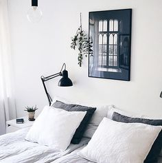 'Room with a view' print in the beautiful bedroom of @amandaxelssson #cocolapine