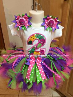 Age appliqué Barney tutu set wild barney bows by on Etsy Barney Birthday Party, Barney Party, 2nd Birthday Party Themes, Second Birthday Ideas, Baby Birthday, Birthday Shirts, Dinosaur Party, Dinosaur Birthday, Party World