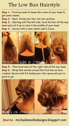 Beauty Tip: DIY Hair / The Low Bun Hairstyle Tutorials - Fereckels