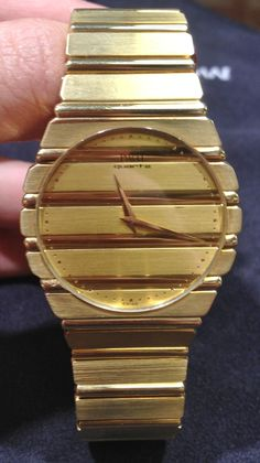 $12,000 pre owned 18 k Yellow Gold Piaget watch on sale at FMJ.