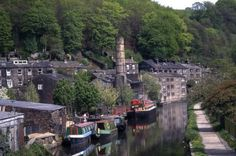 Hebden Bridge, GB - Rochdale canal and narrow boats.I live not far from here! West Yorkshire, Narrowboat Holidays, Leeds, Living On A Boat, Canal Boat, England Uk, Lake District, Hebden Bridge, Places To See