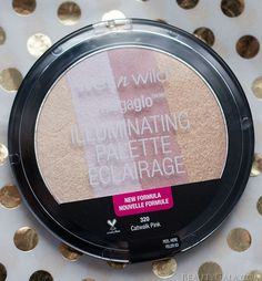 "Highlight On The Cheap // Wet n Wild Illuminating Palette in ""Catwalk Pink"" Swatches and Review"