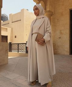 Beige Co-Ord *Made on Order* - hijab outfit Modest Fashion Hijab, Modern Hijab Fashion, Islamic Fashion, Muslim Fashion, Look Fashion, Modest Outfits Muslim, Abaya Fashion, Modesty Fashion, Hijab Chic