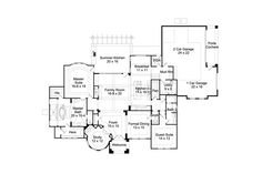 4,085 Square Foot Home, 2 Story, 4 Bedroom and 4 Bath, 3 Garage Stalls Plan: 85-122 (FLOOR 1)