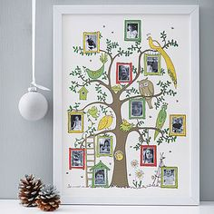 Framed Family Tree Photograph Print