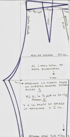 Patrón pantalón de señora Sewing Pants, Sewing Clothes, Diy Clothes, Doll Patterns, Clothing Patterns, Sewing Patterns, Pattern Cutting, Pattern Making, Aya Couture