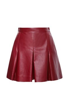 Plonge Leather Shorts With Pleats by Proenza Schouler for Preorder on Moda Operandi