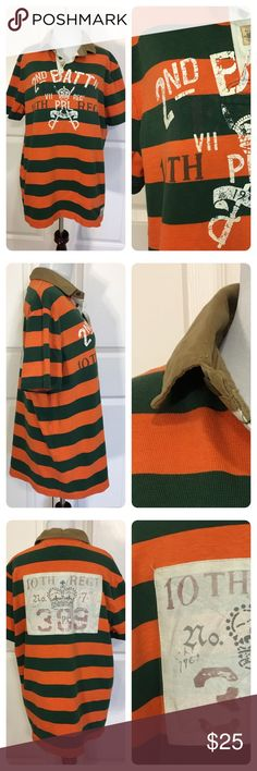 65b58ebe8a1 Polo Ralph Lauren Second Battalion Striped Rugby Crafted from washed cotton  for a vintage look