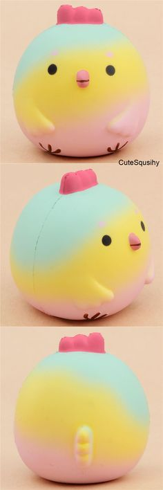 scented rainbow chick by Squishy Fun Animal Squishies, Cute Squishies, Cute Crafts, Crafts To Do, Squishy Store, Cool Fidget Toys, Slime And Squishy, Kawaii Plush, Bath Toys
