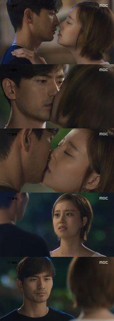 """Goodbye Mr. Black"" Moon Chae-won kisses Lee Jin-wook"