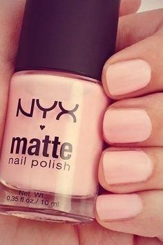 NYX matte nail polish soft pink