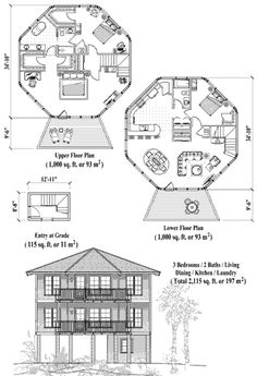 TwoStory Piling House Plan PGT0304 1600 Sq Ft 4 Bedrooms 25
