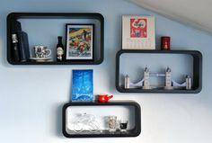 Souvenir display shelves