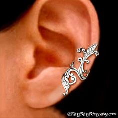 925, Iris wave - solid sterling silver ear cuff earring jewelry non pierced earcuff  090912. $49.00, via Etsy.