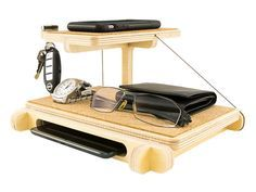 IPhone and IPad Mini Docking Station/Valet: by KkornerInnovations