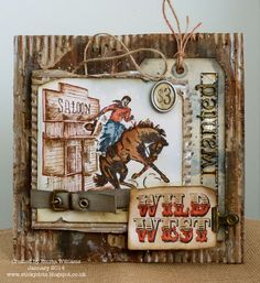 Created by Emma for the Simon Says Stamp Monday challenge (Where The Cowboy Rides) January 2014