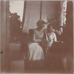 Haunting photograph of Empress Alexandra and Tsarevich Alexei