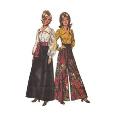 1970s Evening Palazzo Pants & Renaissance by RedcurlzsPatterns