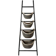 Black Plaid Ladder Basket ($200) ❤ liked on Polyvore featuring home, home decor, small item storage, nocolor, black home accessories, hand made baskets, handmade home decor, black basket and elk lighting