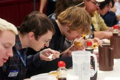 International Pancake Day Celebration, Liberal. The eating contest.
