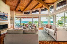 Kauai Luxury Oceanfront Home Photography Brochure, Photography Guide, Brazilian Cherry Hardwood Flooring, Real Estate Photographer, Real Estate Search, Living Room With Fireplace, Custom Cabinets, Home Photo, Kauai