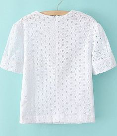 Cotton Tops For Jeans, Cotton Blouses, Dress Clothes For Women, Embroidery Suits, Embroidered Blouse, Office Outfits, T Shirt, Cute Tops, Tops