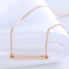 Gold bar necklace Gold bar necklace. Very popular right now. I also am selling this necklace in silver. Jewelry Necklaces